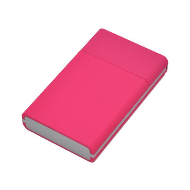 Simple  Plastic Cigarette Case Pocket Size Portable Personality Cigarette Box . Color Random