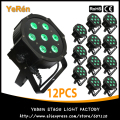 (12PCS) 10W*7Pcs 4in1 Quad-Color LED Par Light RGBW New Mega  High Quality DJ Effect Light