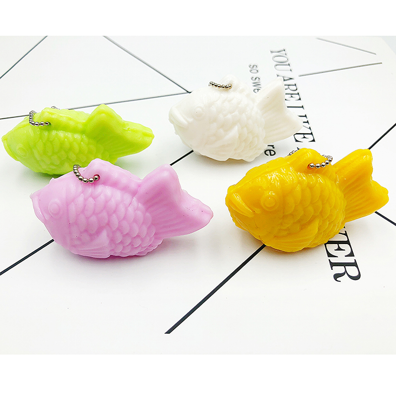 Squishy Fish Antistress Kids Toys For Children Keychain Squeeze Stress Relief Novelty Gag Toys Fun Gags Practical Jokes Toys