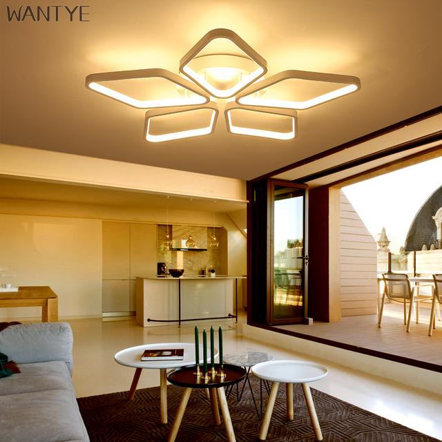 WANTYE Modern Lighting LED Ceiling Light Square For Dining Room Bedroom  Ceiling Lamp Dimmable With Remote