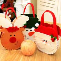 Regalo De Navidad De Santa sacos De Navidad bolsas De 1 piezas bolsas De Santa caramelo galletas bolsa bolsas De regalo accesorios De la Navidad De Navidad 2019 ¡Q