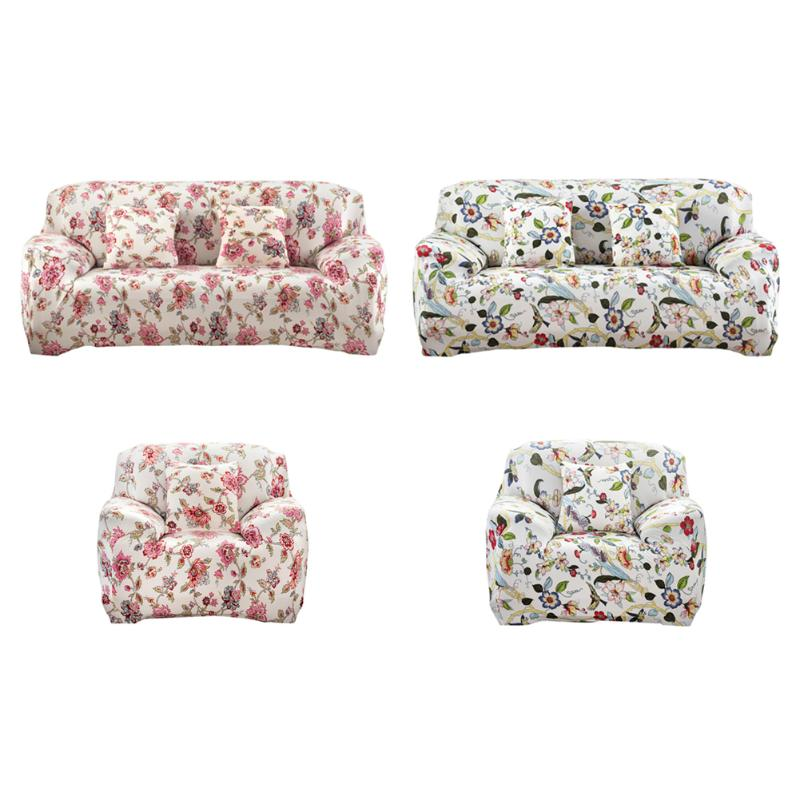 FLOWER Polyester Sofa Cover Cloth Art Spandex Printed Sectional Stretch Slipcover Sofa Covers for Home/office/hotel Decoration