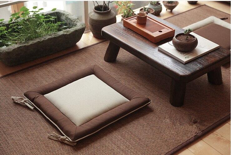 (4pcs/lot)Floor Seating Oriental Zen Zabuton Cushion Square 41cm Japanese Style Meditation Tatami  Yoga Mat Seat Cushion