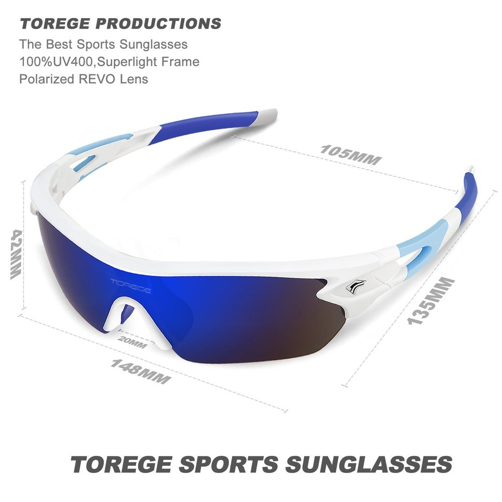 1f20427ee8 ... TOREGE Polarized Sports Sunglasses – TR002 ...