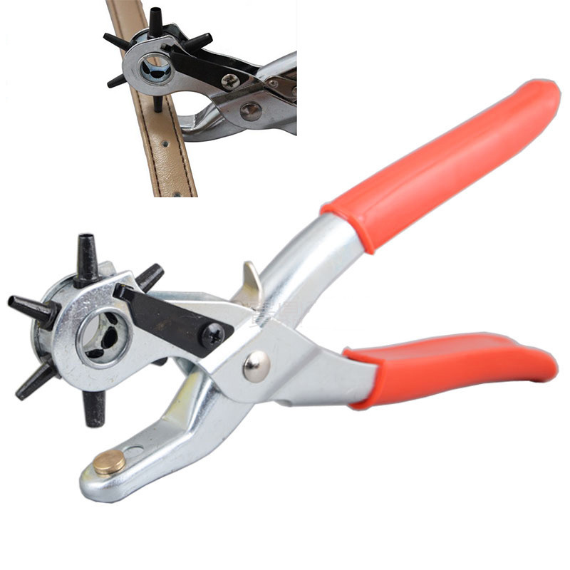 Leather Belt Hole Punch Plier Puncher Revolve Sewing Machine Tool Strap Craft