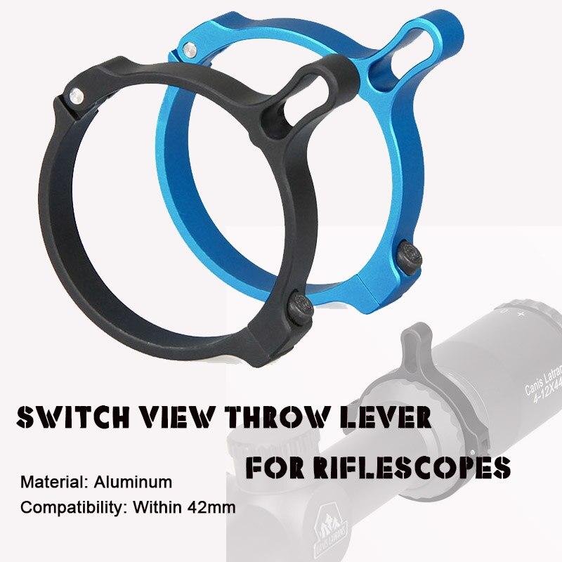 Gratis verzending Black Blue Aluminium Tactical Switch View Throw - Jacht
