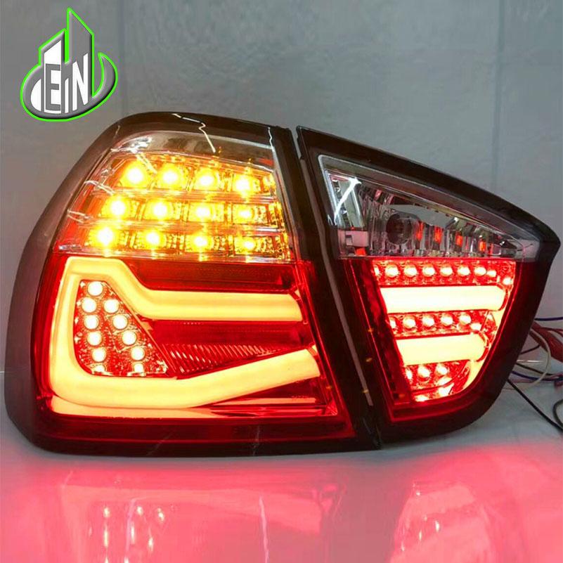 Car Headlights For BMW E90 taillights 3 Series rear lamp 318i 320i 325i taillight LED DRL++Turn Signal+Brake+Reverse LED light