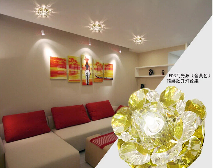 Plafoniere A Led Per Soggiorno : Colorpai 3 w moderne plafoniere a led per soggiorno di cristallo
