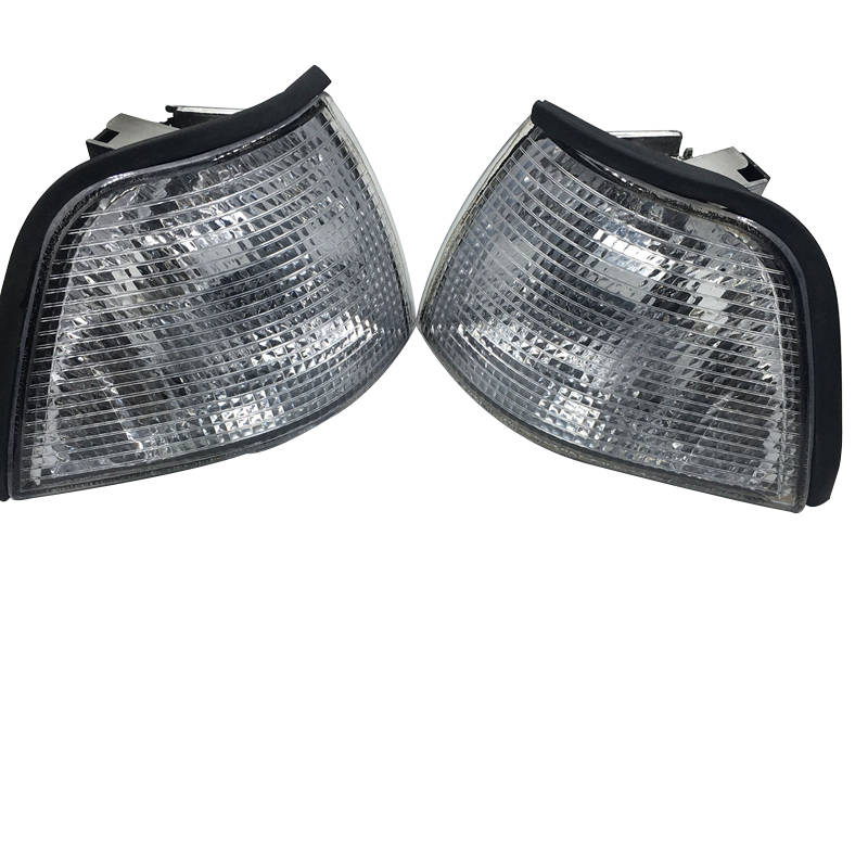 Car Front Corner Lights White/Yellow Turn Signal Light Housing For <font><b>Mercedes</b></font> Benz <font><b>W140</b></font> S-Class S320 1991-1998 image