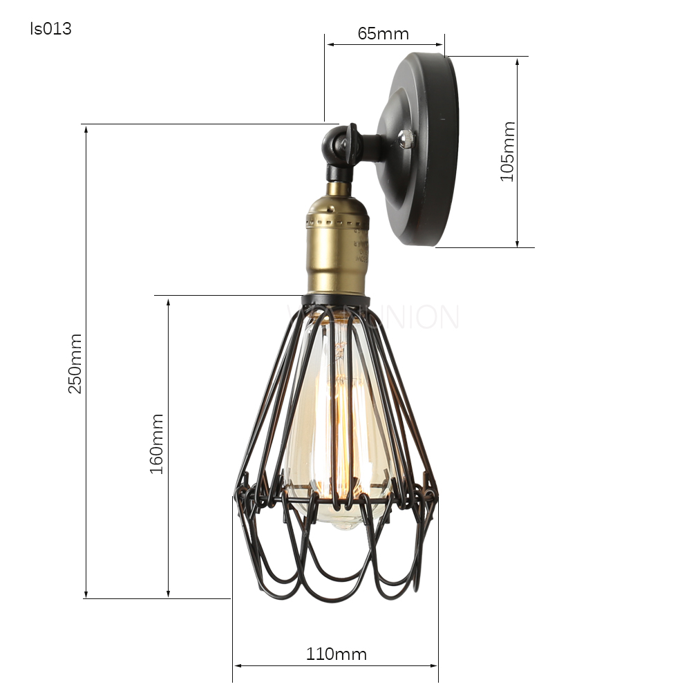 Retro Vintage Edison Pendant Light Bulb Iron Guard Wire Cage Ceiling Hanging Light Fitting Bar Cafe Lampshade DIY Lamp Base diy antique brass retro guard wire cafe loft droplight fixture iron cage pendant light hanging fitting metal frame lamp holder