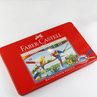 Faber Castell Water Colored Pencil 24 36 48 Colors Tin Box 114468 Drawing Non Toxic Pencils