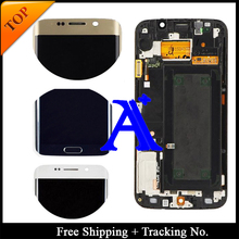 Free Shipping + Tracking No. 100% test Original For Samsung Galaxy S6 Edge G925F LCD Digitizer Assembly Frame – Blue/White/Gold