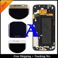 Frete grátis + rastreamento no. 100% teste original para samsung galaxy s6 edge g925f lcd digitador quadro montagem-azul/branco/ouro