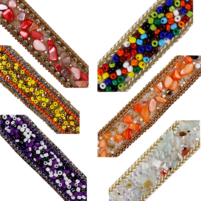 5yard Colourful Hotfix Rhinestones Motifs Bead Diamond Trim Chain Iron on Crystal Reel Chain Embellishment for Clothes Bag T2626