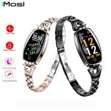 2019 Women Lady Fashion Smart Wristband Heart Rate Blood Pressure Smart Bracelet Fitness Tracker Smart Watch Band Female Girl