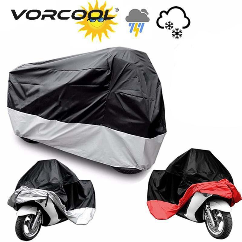 VORCOOL Motorcycle Cover ATV Scooter Dustproof Waterproof Sun Block Protector Outdoor Bike Motor Cover Funda Moto Accessories