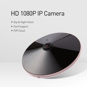 Image 2 - Poe 오디오 hd 1920x1080 p 2.0mp 나이트 비전 fisheye 파노라마 led ir ip 카메라 보안 cctv 시스템 비디오 감시 캠 p2p