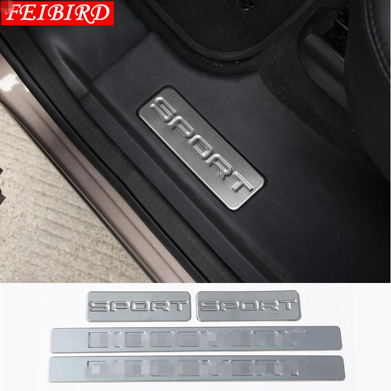 304 STAINLESS STEEL FOR LAND ROVER DISCOVERY SPORT 2015 - 2019 INNER CAR DOOR SCUFF PLATE DOOR SILL PROTECTION COVER