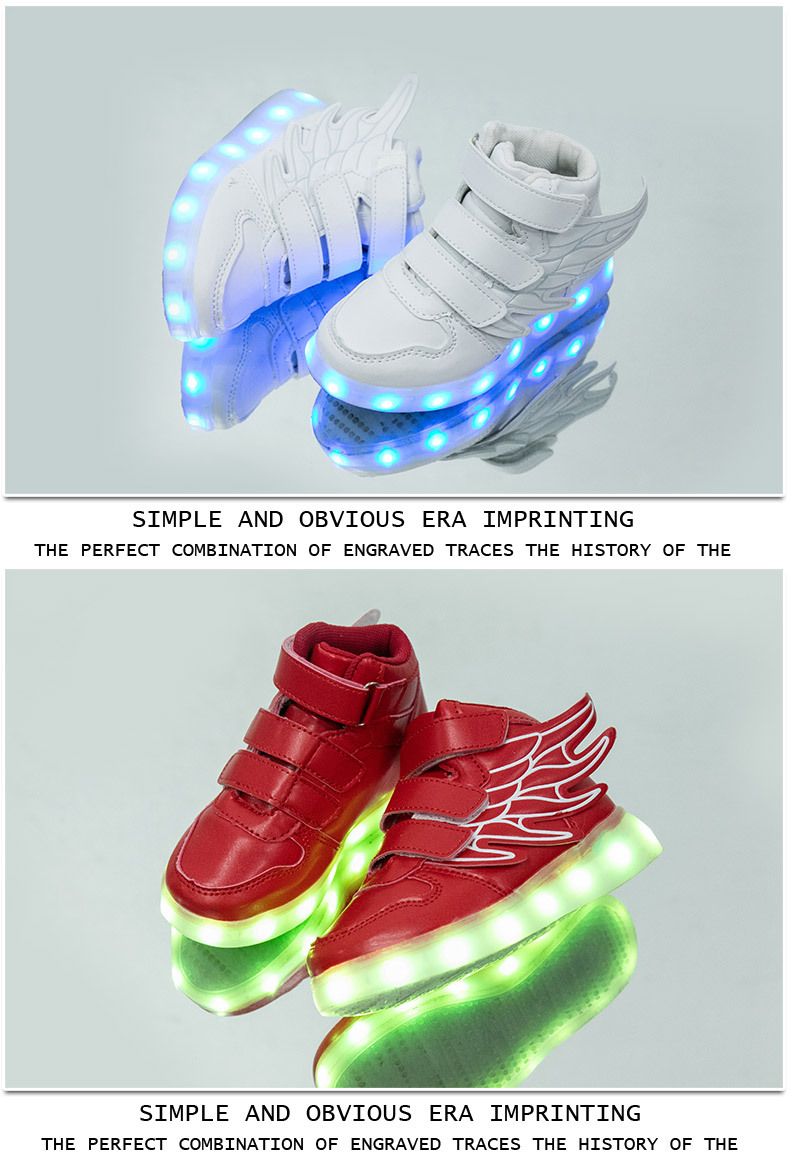 HTB1eDycebuWBuNjSszgq6z8jVXaa - UncleJerry Kids Light up Shoes with wing Children Led Shoes Boys Girls Glowing Luminous Sneakers USB Charging Boy Fashion Shoes