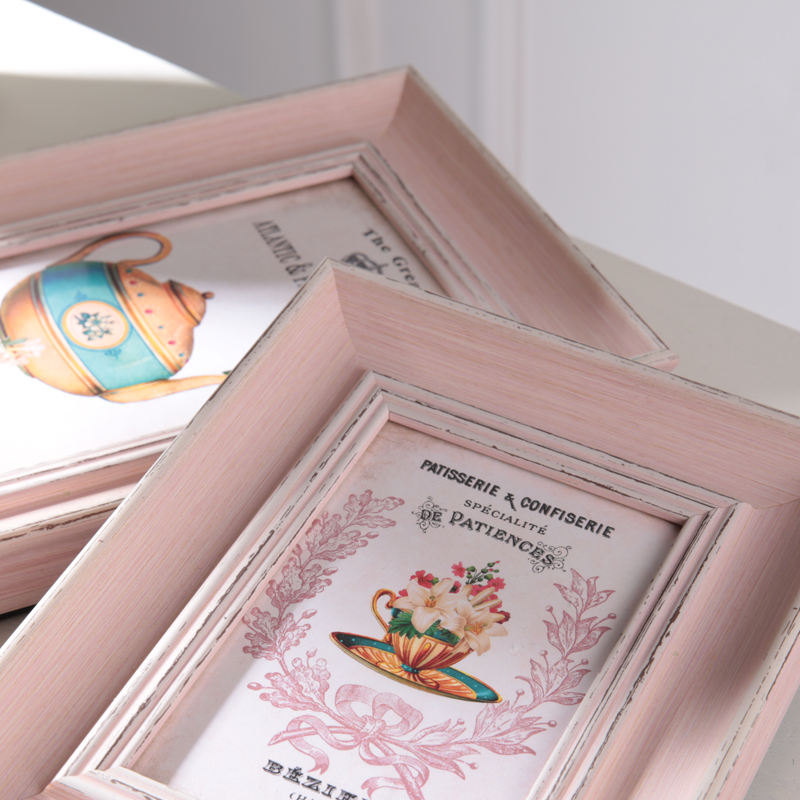 4/6/7/10 zoll Nette Rosa Familie Rahmen Wandkunst PS Foto ...