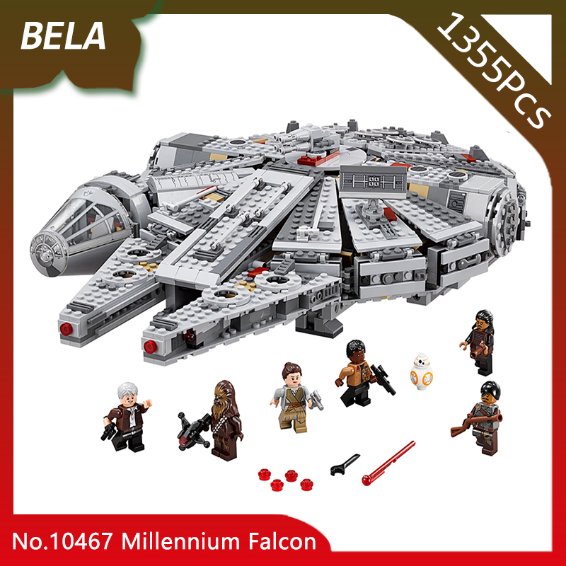 Bela 10467 1355pcs Star Series Wars Millennium Falcon Building Block Brick Educational Toys For Children Gifts Compatible 05007 ynynoo lepin 05007 star assembling building blocks marvel toy compatible with 10467 educational boys gifts wars