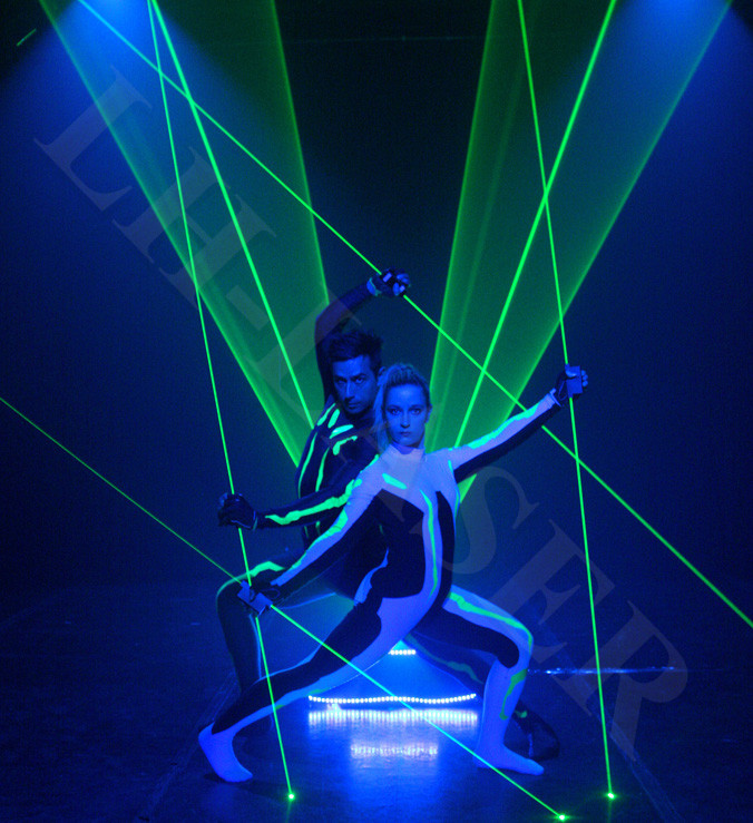 Lights & Lighting Customized 445nm 500mw Thick Beam Laser Base Laser Pedal Double-headed Laser Sword Laser Show Commercial Lighting