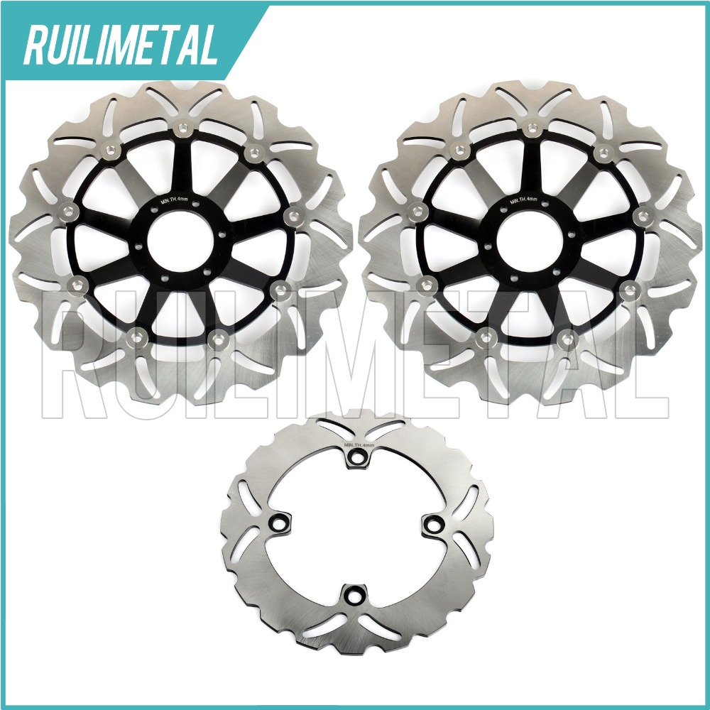Full Set Front Rear Brake Discs Rotors for Honda CB600F HORNET / 599 CB 600 F S F2 00-04 CB600F 2000 01 02 03 2004 05 06 New mf2300 f2