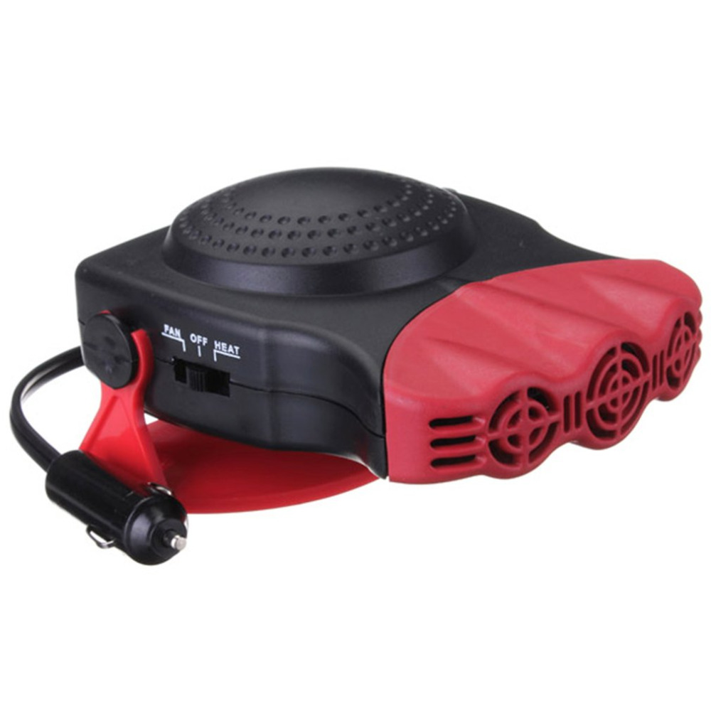 2 in 1 150W Auto Car Heater Fan 12V 1.7m Cable Heating Fan With Swing-out Handle Windscreen Defroster Dashboard Driving Demister