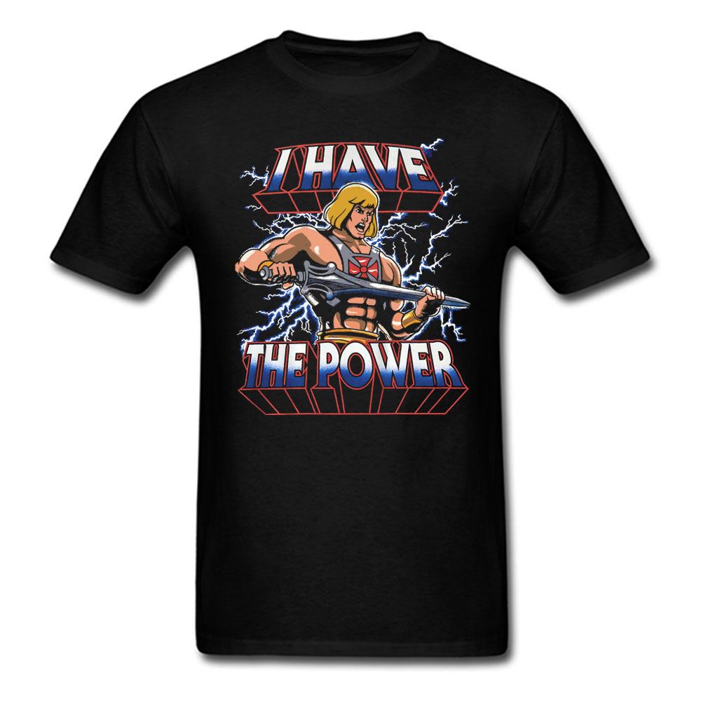 He-man I HAVE THE POWER T-shirt Mens And Womens Cotton Printing  Shirt Big Size S-XXXL USA SIZE