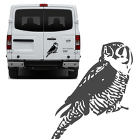 Free Shipping 1PC Lucky Protector Bird Pet Postman Owl Graphic Vinyl Sticker For NV Truck Rear