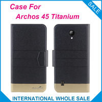 5 Colors Hot! Archos 45 Titanium Case New Fashion Business Magnetic clasp Ultrathin Flip Leather Case For Archos 45 Titanium