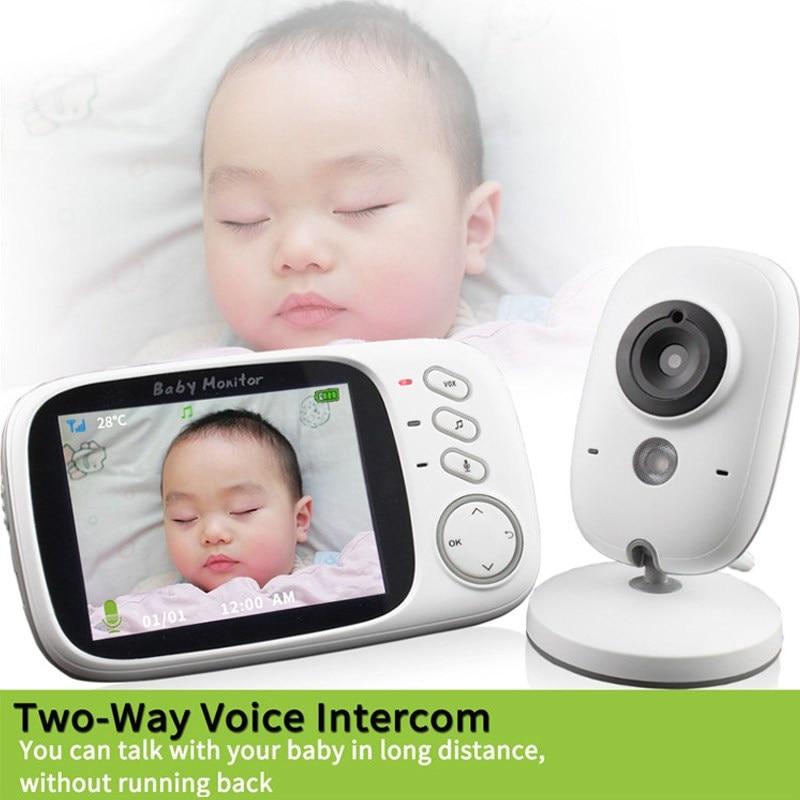 3.2 inch Wireless Video Baby Monitor HD Baby Nanny Security Camera Night Vision Temperature Monitor