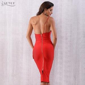 Image 5 - ADYCEสีแดงหนึ่งไหล่ชุดสตรีใหม่2020ฤดูร้อนเซ็กซี่Celebrity Party Backless Bodyconชุด