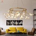 Светлячок подвесной светильник оливковая ветка подвесные светильники художественный домашний декоративный светодиодный в европейском ст...