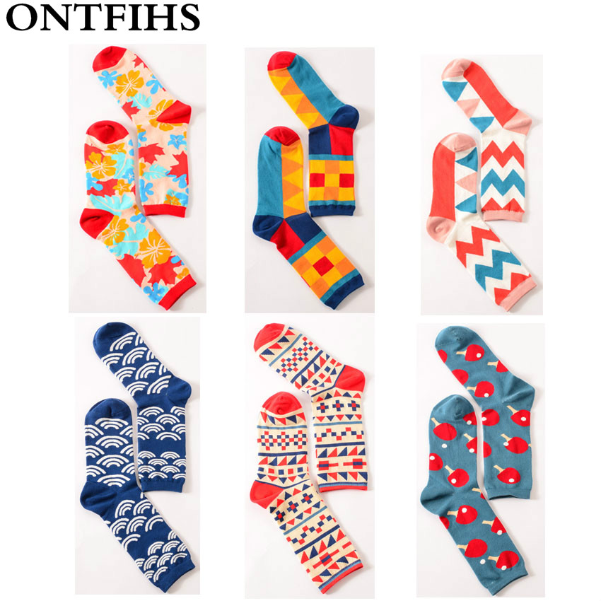 5pairs /lot Men/women Colorful Crew Happy Socks Funny British Style Casual Socks Brand Fashion Novelty Art for Couple H-11