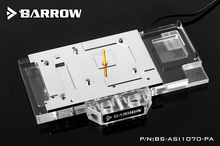 Купить с кэшбэком BARROW Full Cover Graphics Card Block use for ASUS Ice Knight GTX1070-O8G-GAMING/1070-O8G-SI/1060-O6G GPU Radiator RGB to AURA