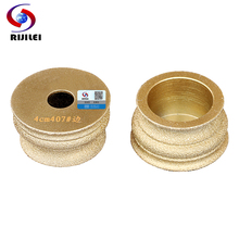 RIJILEI 75mm*20*40 Brazing Diamonds Marble Sanding Disc Angle Grinder Grinding wheel discs MX42