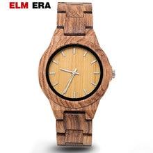 women's wooden watches fashion quartz wooden ladies watch top brand luxury relogio feminino bracelet watch