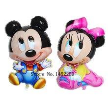 XXPWJ Frete grátis nova circular dimensional Mickey Minnie balões de alumínio balão brinquedos para crianças atacado Q-011