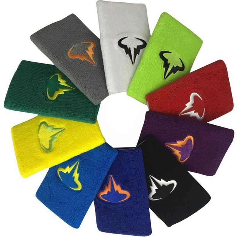 1 pc Nadal Wristband 12.5*7.5cm cotton wristbands sport sweatband hand band for gym volleyball tennis sweat wrist support guard