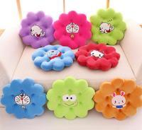 Sun flower cartoon plush cushion office car sofa cushion pillow lumbar