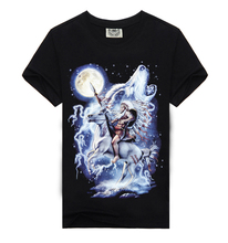 New 2015 Hip Hop Camiseta 3d Printed T Shirt Men Plus Size Cotton O-Neck Famous Brand Causul Men's Wear knight Men Clothing
