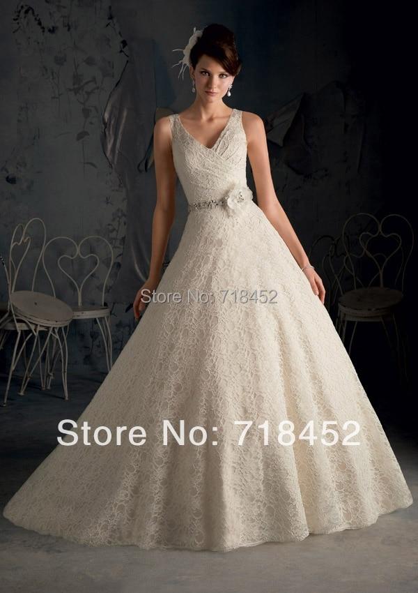 Haute Couture 2014 Wedding Dresses Lace Beaded Sashes Vestidos De ...
