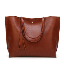 New Fashion Oil Wax Leather Women Handbag Brand Women's Messenger bag Casual Tote Leather Female Single Shoulder bags 2019 2017 time limited tote totes new female leather handbag european and american style oil wax shoulder crossbody messenger bag