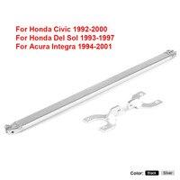 Rear Strut Bar Black for Honda 92 00 Civic EG EK/93 97 Del Sol/94 01 Integra DC2 Rear Upper Strut Brace Bar
