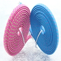 1000pcs/lot 2m 6ft Braided Nylon Woven Wire noodle flat USB Sync Charger cable For iphone 4 4s 4G ipod touch by Fedex