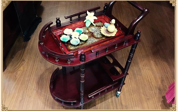Piękno najwyższej jakości. Drewniany wózek kosmetyczny. Wózek - Meble - Zdjęcie 4