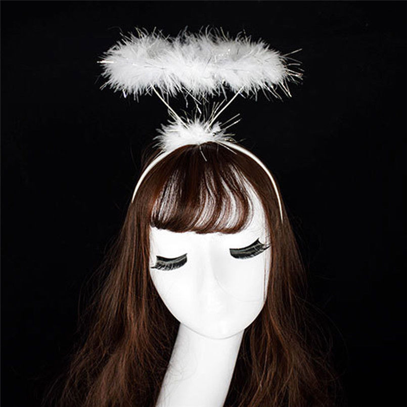 New Women Fashion Ladied Fluffy Halo Angel Headband Fairy Fancy Dress Party Hairband Casual Head-wear Accessories #4R07 (1)