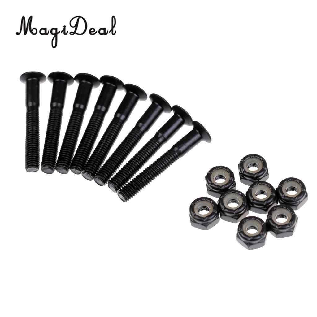 8 unids/set Cruiser Longboard Skateboard tornillos de Hardware tuercas-negro 28/25/35mm para accesorios de reemplazo de monopatín