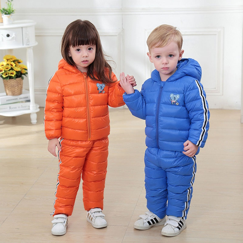 43be67e3c 🛒 Kids Snowsuits Autumn Winter Down Jackets Pant For Girls Boys ...